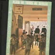 Coleccionismo Papel Varios: ENTRADA PLAZA DE TOROS DE SEVILLA.TENDIDO 11. FILA 7. Nº 74. 200 PESETAS.15 AGOSTO 1973. (P/D51). Lote 254949475