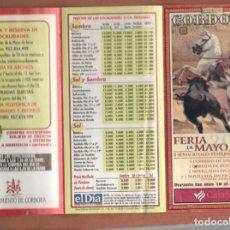 Coleccionismo Papel Varios: FOLLETO: PLAZA DE TOROS DECORDOBA. FERÍA DE MAYO, 2001. (P/D51). Lote 254950810
