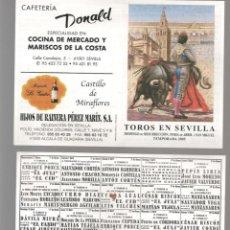 Coleccionismo Papel Varios: FOLLETO: PLAZA DE TOROS DE SEVILLA. TEMPORADA 2005. (P/D51). Lote 254951085