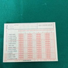 Altri oggetti di carta: ANTIGUO BOLETO QUINIELA 19.11.1989 (ESCRITO EN EL DORSO). Lote 255359990