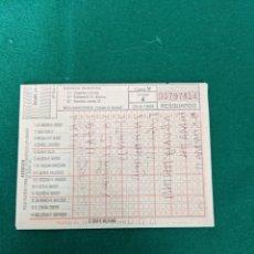 Altri oggetti di carta: ANTIGUO BOLETO QUINIELA 25.09.1988 (USADO Y ESCRITO EN EL DORSO). Lote 255360295