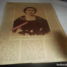 Coleccionismo Papel Varios: RECORTE AÑO 1931 - ENRIQUETA LOZANO , LA SAFO GRANADINA . POR C.G.ORTIZ DE VILLAJOS. Lote 255429020