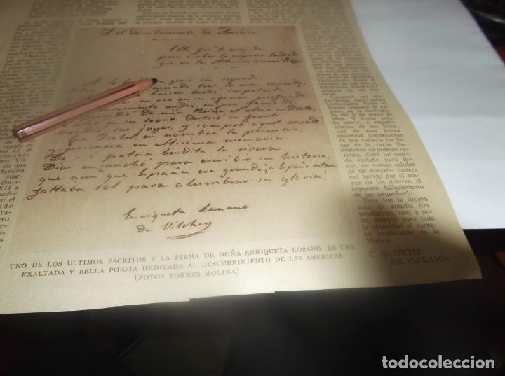 Coleccionismo Papel Varios: RECORTE AÑO 1931 - ENRIQUETA LOZANO , LA SAFO GRANADINA . POR C.G.ORTIZ DE VILLAJOS - Foto 2 - 255429020