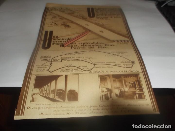 RECORTE PUBLICIDAD AÑO 1931 - ÁVILA .- EL PARADOR DE GREDOS (PENSION COMPLETA 20 A 35 PTAS) (Coleccionismo en Papel - Varios)