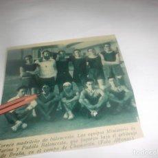 Coleccionismo Papel Varios: RECORTE AÑO 1931 - MADRID.- TORNEO BALONCESTO,LOS EQUIPOS MINISTERIO DE MARINA Y PADILLA BALONCESTO. Lote 255432600