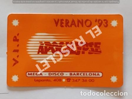 ANTIGÜA TARJETA V.I.P. DISCOTECA APOCALYPSE DE BARCELONA VERANO 93 (Coleccionismo en Papel - Varios)