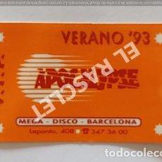 Coleccionismo Papel Varios: ANTIGÜA TARJETA V.I.P. DISCOTECA APOCALYPSE DE BARCELONA VERANO 93. Lote 255432790