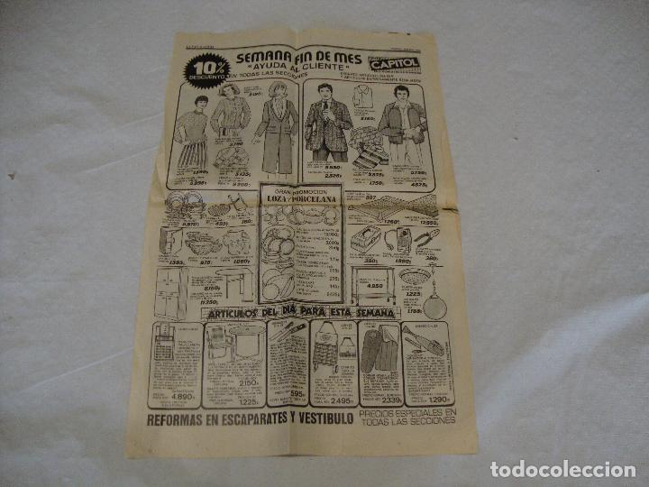 HOJA PUBLICIDAD ALMACENES CAPITOL LA VANGUARDIA (Coleccionismo en Papel - Varios)
