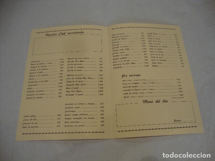 Coleccionismo Papel Varios: CARTA MENU HOTEL RIAS BAJAS PONTEVEDRA - Foto 2 - 255483790