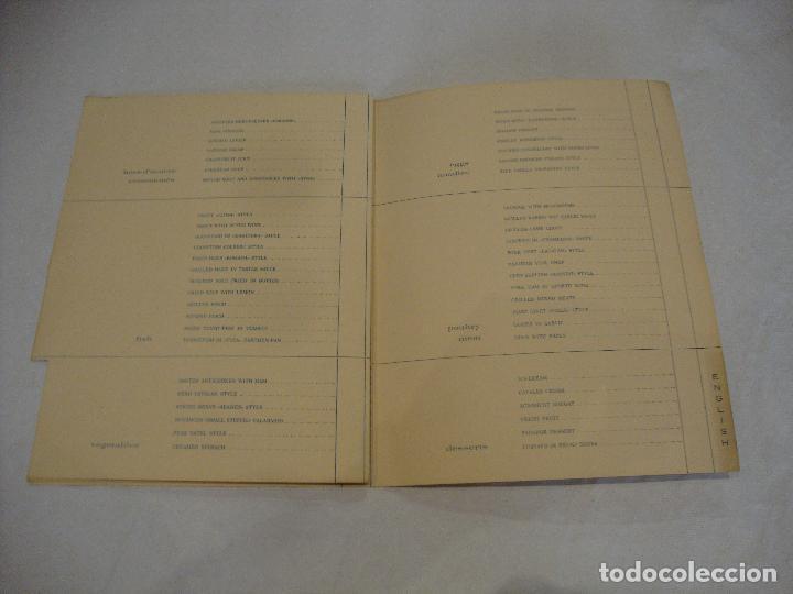 Coleccionismo Papel Varios: CARTA MENU PARADOR NACIONAL DEL VALLE DE ARAN LERIDA - Foto 4 - 255483915