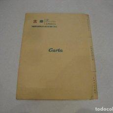 Coleccionismo Papel Varios: CARTA MENU PARADOR NACIONAL DEL VALLE DE ARAN LERIDA. Lote 255483915