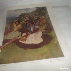 Coleccionismo Papel Varios: LÁMINA RECORTE AÑO 1922.- DIA DE FIESTA - UN DESCANSO EN EL PASEO,POR A.LOZANO SIDRO. Lote 255598580