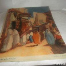 Altri oggetti di carta: RECORTE AÑO 1934 -TÁNGER .CALLE DE LOS CRISTIANOS(ACUARELA DE PASTRANA). ATRAS JABÓN HENO DE PRAVIA. Lote 255608750