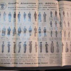 Coleccionismo Papel Varios: GRANDES ALMACENES EL AGUILA-LAMINA ROPA Y COMPLEMENTOS DE MODA-AÑO 1913-VER FOTOS-(K-2366). Lote 256049350