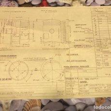 Coleccionismo Papel Varios: PLANO PISTON BORGO PARA DERBI AÑO 50/60. Lote 257547340
