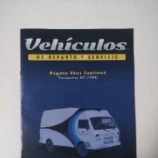 Coleccionismo Papel Varios: FASCICULO PEGASO EKUS CAPITONE TRANSPORTES SIT 1988 VEHICULOS REPARTO Y SERVICIO SALVAT. Lote 257547850