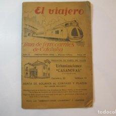 Coleccionismo Papel Varios: EL VIAJERO-GUIA DE FERROCARRILES DE CATALUÑA-PRIMAVERA 1945-VER FOTOS-(K-2404 ). Lote 257695325