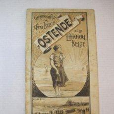Coleccionismo Papel Varios: BELGICA-OSTENDE ET LE LITORAL BELGE-MAPA PUBLICIDAD TURISMO-VER FOTOS-(K-2414). Lote 257704280