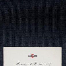 Coleccionismo Papel Varios: TARJETA DE VISITA AÑOS 60 MARTINI & ROSSI S.A. A23. Lote 258178555