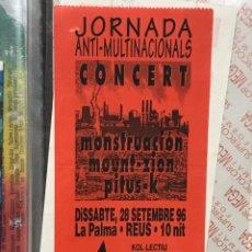 Coleccionismo Papel Varios: ENTRADA CONCERT. LA PALMA REUS 1996. Lote 259032270