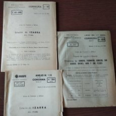 Coleccionismo Papel Varios: CONSIGNAS LÍNEA DE CASTEJÓN A BILBAO. Lote 260547010