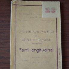 Coleccionismo Papel Varios: PERFIL LONGITUDINAL LÍNEA DE ZAFRA A HUELVA Y DE GIBRALEON A AYAMONTE, 1944. Lote 260560135