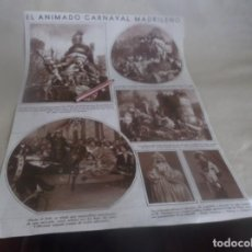 Altri oggetti di carta: RECORTE AÑO 1932.-(MADRID)CARNAVAL MADRILEÑO . ATRAS MADRID BAILES CARNAVAL Y PUBLICIDAD VERAMON. Lote 260886585