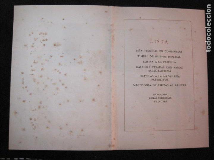 Coleccionismo Papel Varios: ALMUERZO AYUNTAMIENTO BARCELONA-PROTECTORADO MARRUECOS-AÑO 1942-OLIVA DE VILANOVA-VER FOTOS-(K-2689) - Foto 4 - 261087535