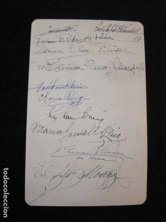 Coleccionismo Papel Varios: COLONIA VILARDELL-BON REPOS-DIADA DE SANTA ROSA 1946-MENU ANTIGUO FIRMADO-VER FOTOS-(K-2691) - Foto 2 - 261098925