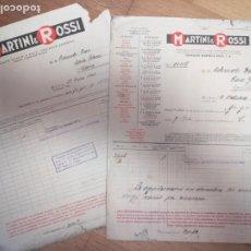 Coleccionismo Papel Varios: LOTE FACTURAS ANTIGUAS MARTINI ROSSI ASTURIAS. Lote 261122455