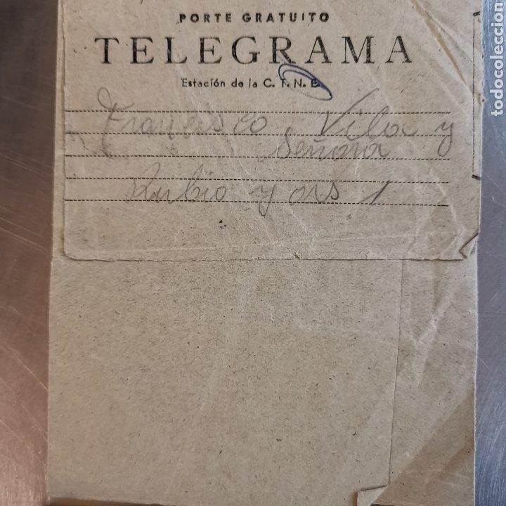 TELEGRAMA DE 1954, SELLO DEL CENTRO DE TELEFONICA DE CORNELLÀ 1954, FRANCISCO VILA (Coleccionismo en Papel - Varios)