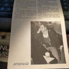 Coleccionismo Papel Varios: HOJA PUBLICACION INFORMACION GRAFICA O FOTOGRAFICA 23,6X16 CM APROXIMADOS - FERNANDO G. TOLA. Lote 261345195
