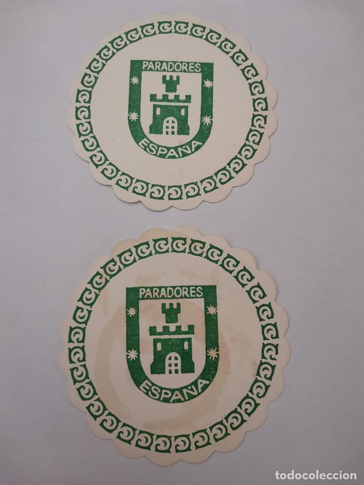 OCASION COLECCIONISTAS 2 POSAVASOS ANTIGUOS AÑOS 70 80 PARADORES DE ESPAÑA (Coleccionismo en Papel - Varios)