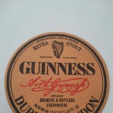 Coleccionismo Papel Varios: OCASION COLECCIONISTAS POSAVASOS ANTIGUO AÑOS 70 80 CERVEZA GUINNESS DUBLIN & LONDON. Lote 262053640