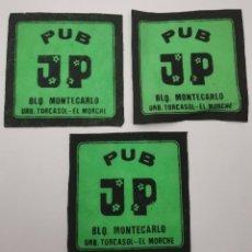 Coleccionismo Papel Varios: OCASION COLECCIONISTAS 3 POSAVASOS ANTIGUOS AÑOS 70 80 PUB JP MONTECARLO. Lote 262053820