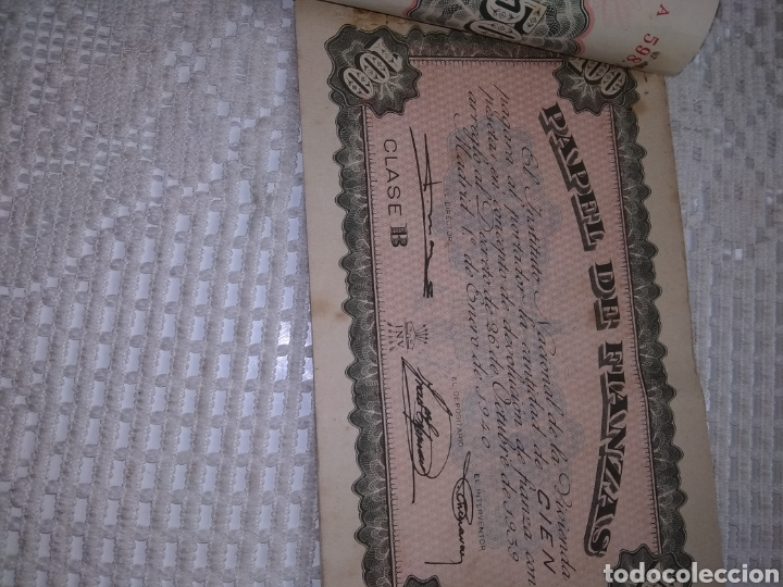 Coleccionismo Papel Varios: PAPEL DE FIANZAS .11 UNIDADES. AÑOS 1940 y 1962 - Foto 2 - 262058560
