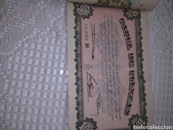 Coleccionismo Papel Varios: PAPEL DE FIANZAS .11 UNIDADES. AÑOS 1940 y 1962 - Foto 4 - 262058560