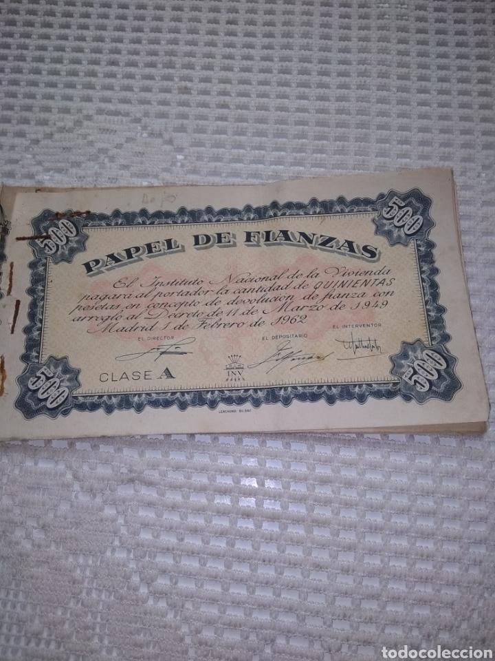 PAPEL DE FIANZAS .11 UNIDADES. AÑOS 1940 Y 1962 (Coleccionismo en Papel - Varios)