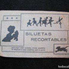 Coleccionismo Papel Varios: SILUETAS RECORTABLES-JUEGO ANTIGUO CON RECORTABLES Y CRISTAL-VER FOTOS-(K-2739). Lote 262306340