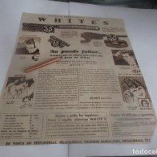 Coleccionismo Papel Varios: RECORTE PUBLICIDAD AÑO 1932 .- USANDO EL PEINE Y CEPILLO ELÉCTRICOS WHITE'S - NO PUEDE FALLAR. Lote 263115665
