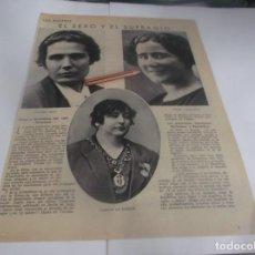 Coleccionismo Papel Varios: RECORTE AÑO 1934 .- LAS MUJERES - EL SEXO Y EL SUFRAGIO POR CRISTÓBAL DE CASTRO. Lote 263116075