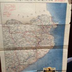 Coleccionismo Papel Varios: MAPA GUERRA CIVIL ESPAÑOLA FRENTE DE CATALUÑA - 1938 - HOJA 4 ( GERONA / BARCELONA ). Lote 265682939