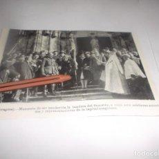 Coleccionismo Papel Varios: RECORTE AÑO 1927. CASPE (ZARAGOZA) BENDICIÓN DE LA BANDERA DEL SOMATÉN. Lote 266305378
