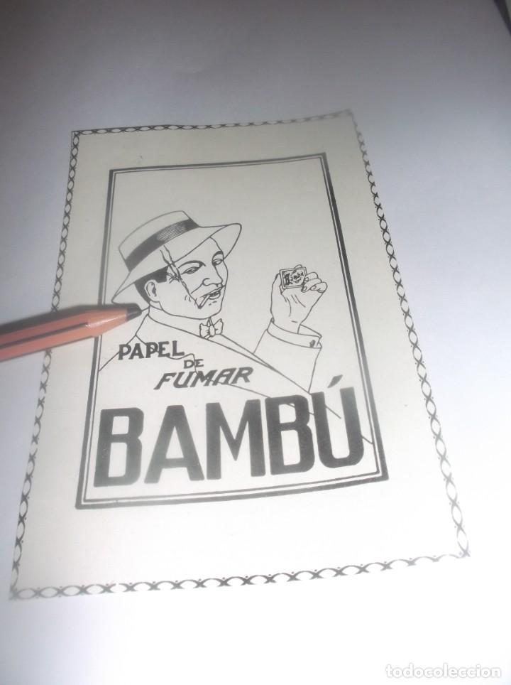 RECORTE PUBLICIDAD AÑO 1927 - PAPEL DE FUMAR BAMBÚ (Coleccionismo en Papel - Varios)