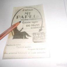Coleccionismo Papel Varios: RECORTE PUBLICIDAD AÑO 1927 - PAPEL DE FUMAR MI PAPEL. Lote 266326373