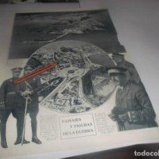 Coleccionismo Papel Varios: RECORTE AÑO 1922(MELILLA)Á VISTA DE PAJARO,OFICIALES ESPAÑOLES(SM.ELREY EN STAND Y MANTEQUERA AMANDI. Lote 266569798