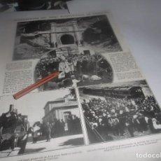 Coleccionismo Papel Varios: RECORTE AÑO 1922.JACA(HUESCA)INAGURACIÓN TUNEL CAMFRANC(ROMERO TORRES,RETRATA Á PASTORA IMPERIO ). Lote 266576868