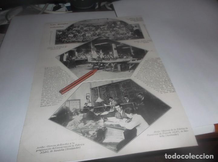 RECORTE AÑO 1922.SANTOÑA(SANTANDER)FÁBRICA DE CONSERVAS DE PESCADOS ALBO (JABÓN FLORES (Coleccionismo en Papel - Varios)