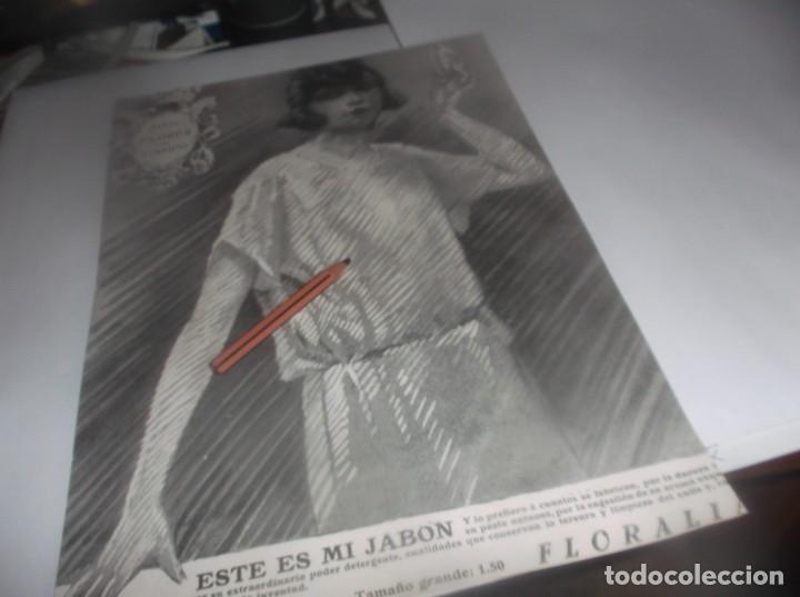 Coleccionismo Papel Varios: RECORTE AÑO 1922.SANTOÑA(SANTANDER)FÁBRICA DE CONSERVAS DE PESCADOS ALBO (JABÓN FLORES - Foto 2 - 266578778