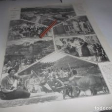 Coleccionismo Papel Varios: RECORTE AÑO 1922.CERCEDILLA(MADRID)EL VERANEO,ESTACIÓN DE TREN(IMPRESIONES MOGREBINAS (LOS MORABITOS. Lote 266580338